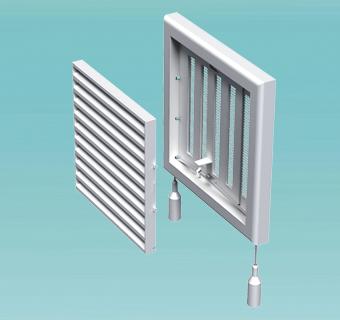 Вентиляционные решетки могут иметь подвижные жалюзи