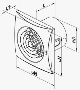 габаритные размеры вентилятора квайт 100 230kievua