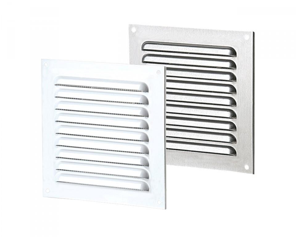 Приточно-вытяжные решетки металлические однорядные отбортованные серии МВМПО