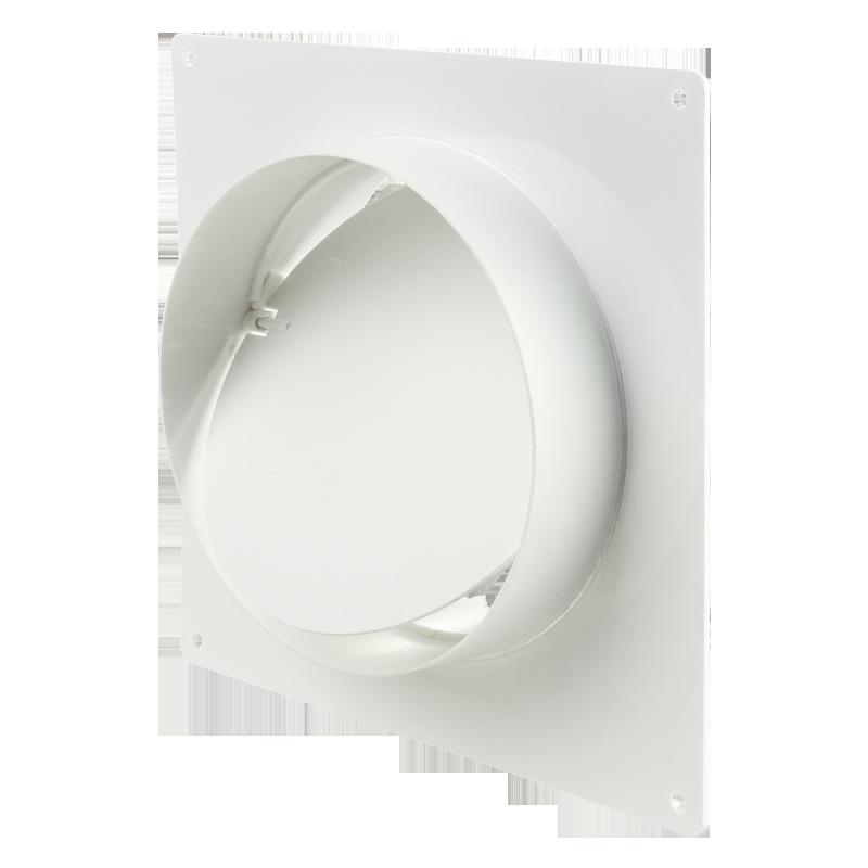 Соединитель с обратным клапаном и настенной пластиной для круглых каналов