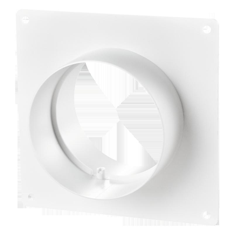 Соединитель с пластиной для круглых каналов