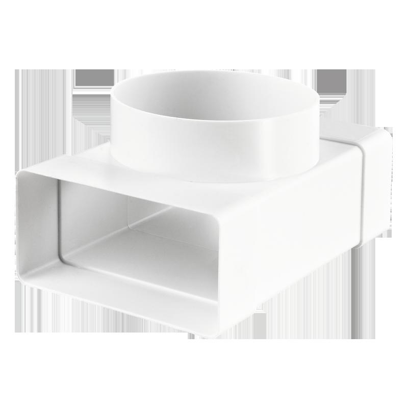 Тройник для плоских и круглых каналов